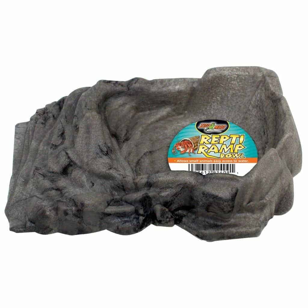 Zoomed Zoo Med Sml Ramp Reptile Turtle Water Dish Tortoise