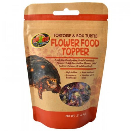 zoomed flower topper tortoise food